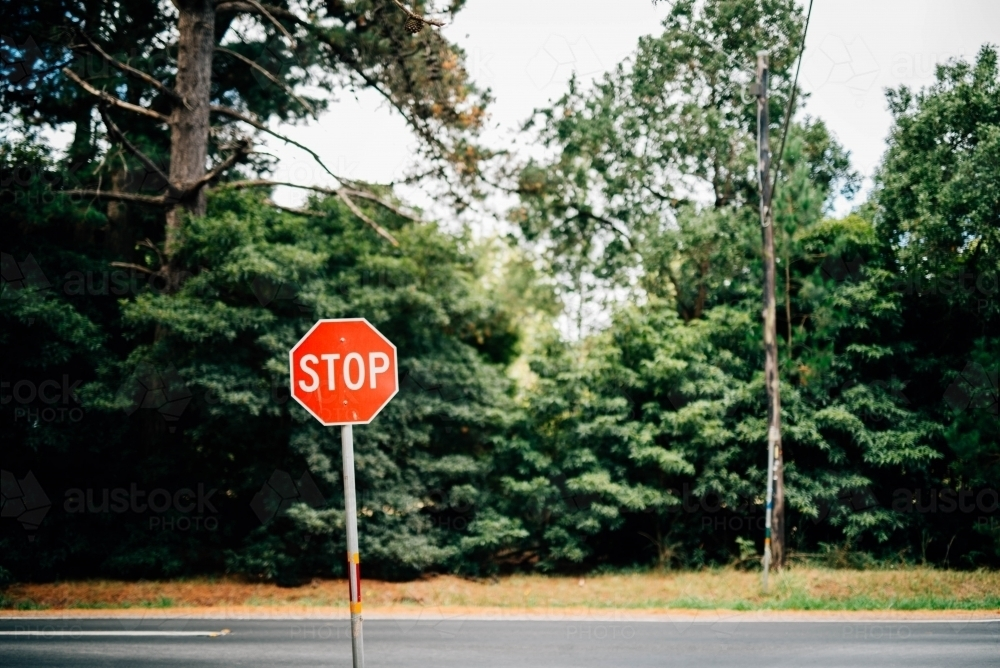 Stop sign - Australian Stock Image