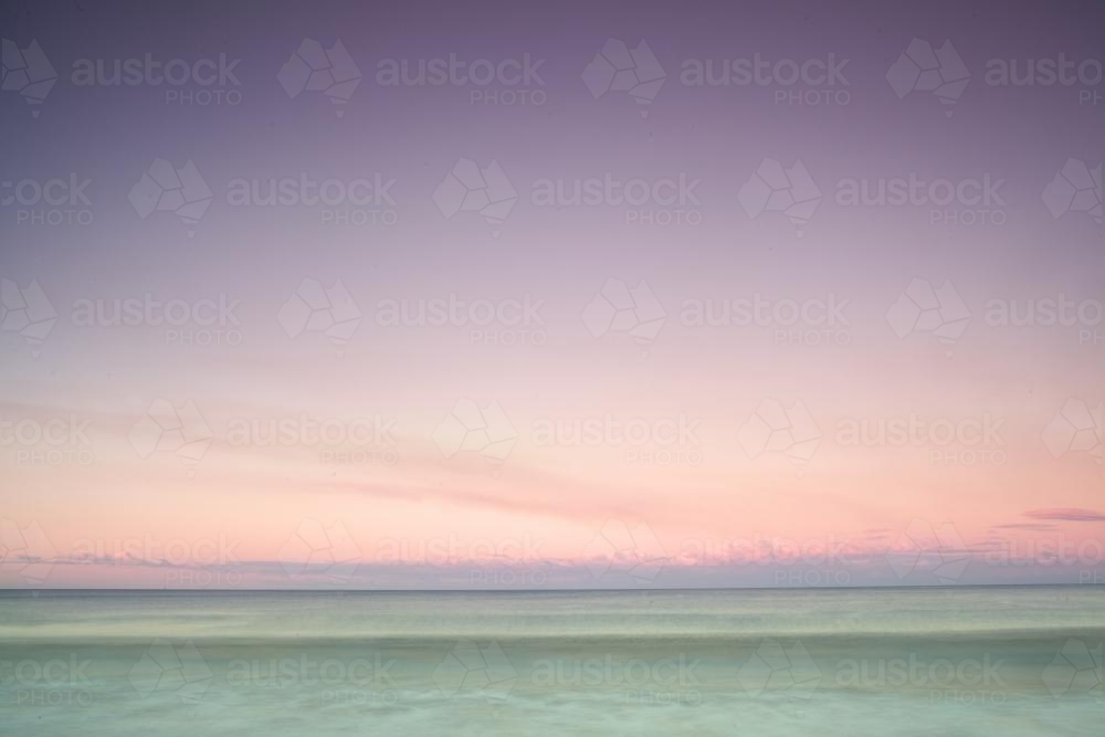 Sunset landscape at the beach - Australian Stock Image
