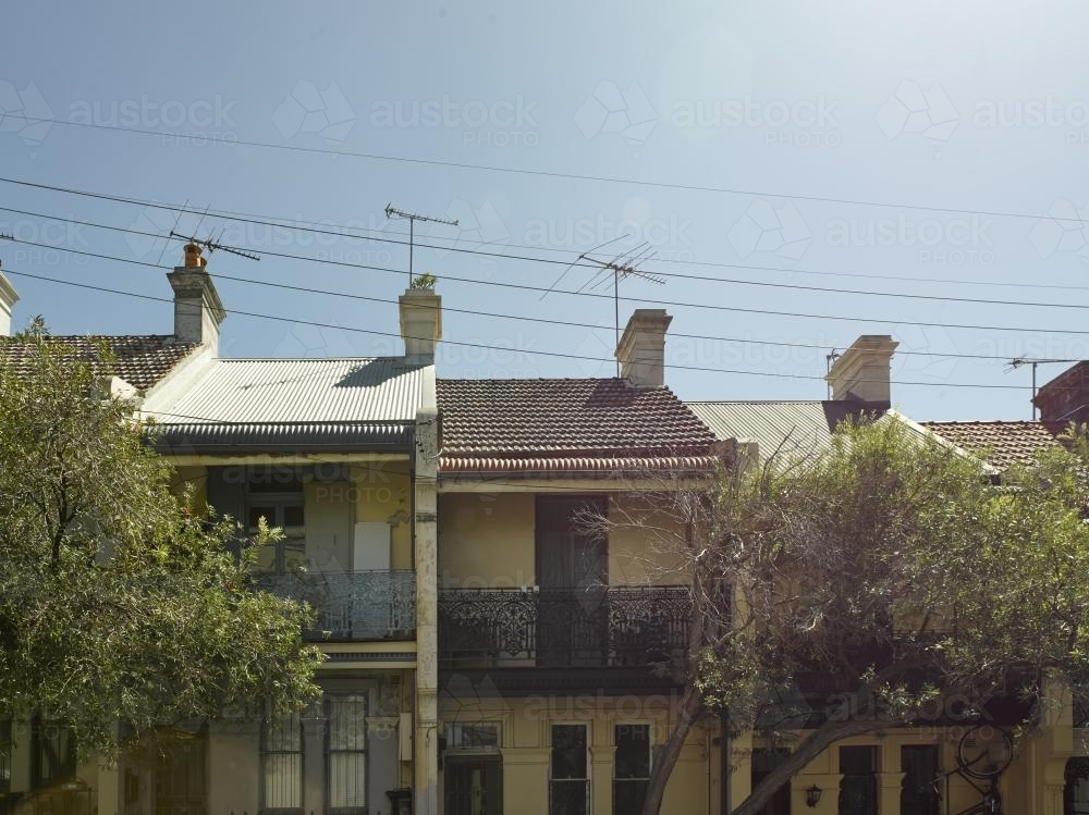 terrace houses in Paddington - Australian Stock Image