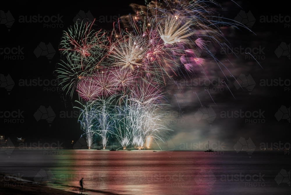 Territory Day fireworks - Australian Stock Image