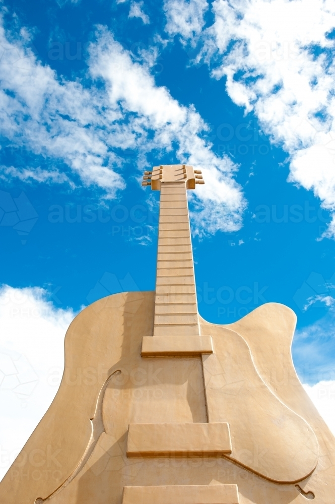 the Big Guitar at Tamworth - Australian Stock Image