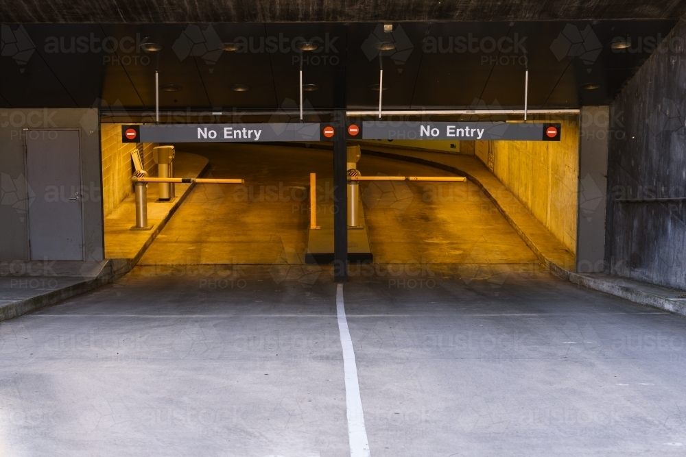 The exit of an underground car park. - Australian Stock Image