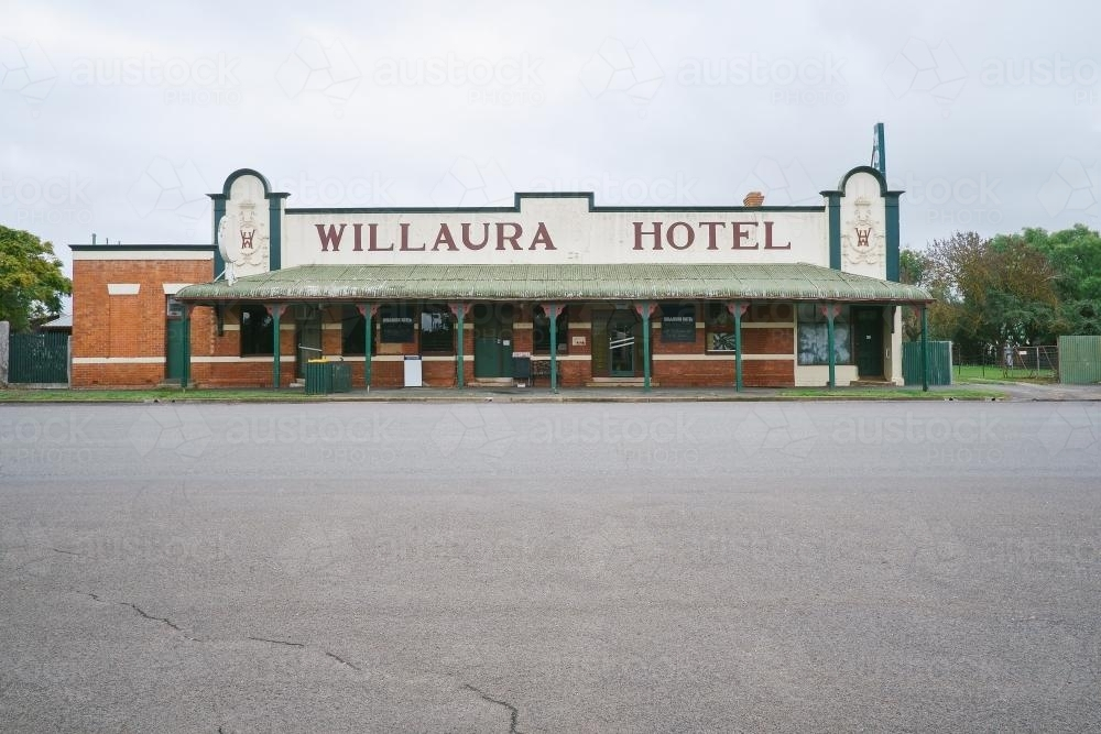 Traditional Hotel with original frontage and signage - Australian Stock Image