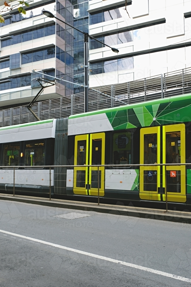 Tram in the city of Melbourne - Australian Stock Image