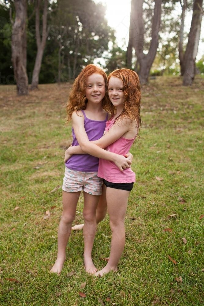 Redhead girl swimmers