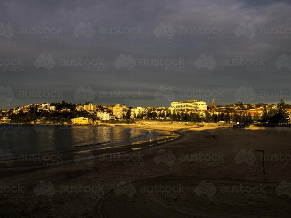 View of Coogee Beach Morning - Australian Stock Image