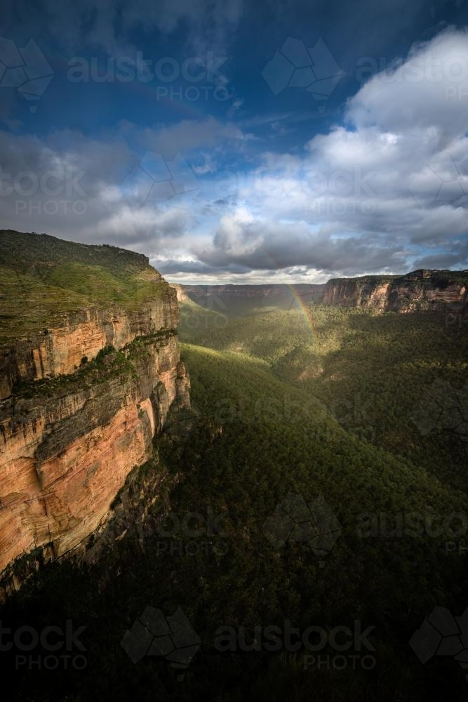 Walls lookout near Mt Wilson in the Blue Mountains National Park - Australian Stock Image