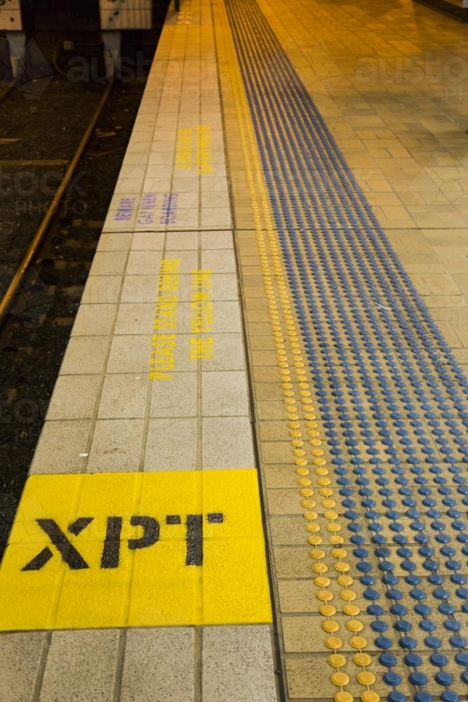XPT platform at Central Railway Station, Sydney - Australian Stock Image