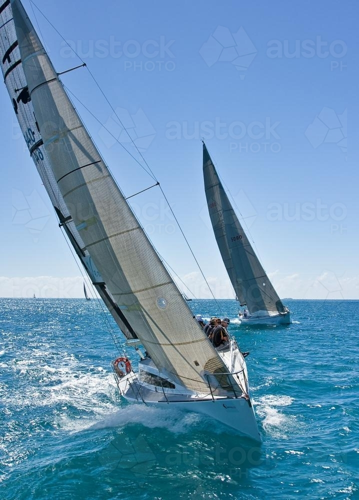 Yachts competing in Airlie Beach Race Week. - Australian Stock Image