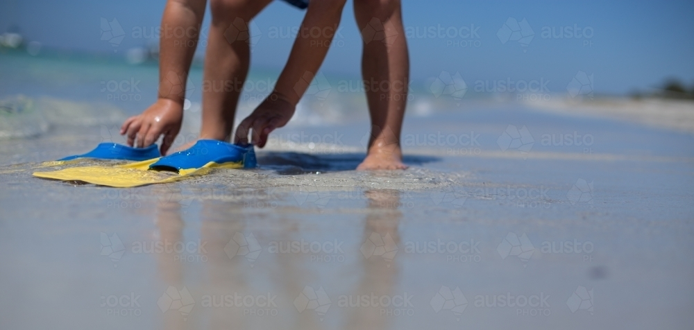 Young boys playing at beach - Australian Stock Image