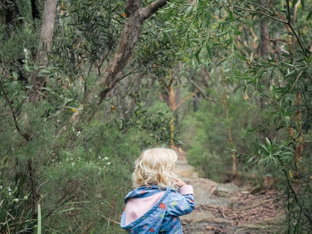 Young girl bushwalking - Australian Stock Image