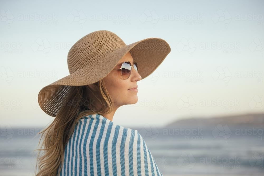 Young woman at the beach - Australian Stock Image