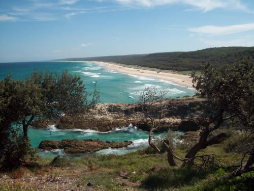 View over Main Beach, North Stradbroke Island