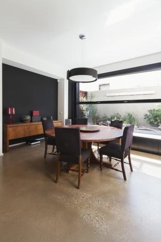 Dining room extension in contemporary architect designed home