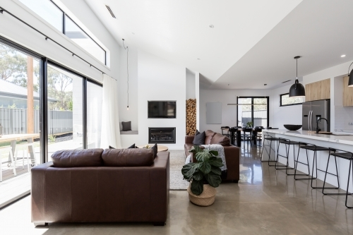 Stunning contemporary open plan spacious living and dining room