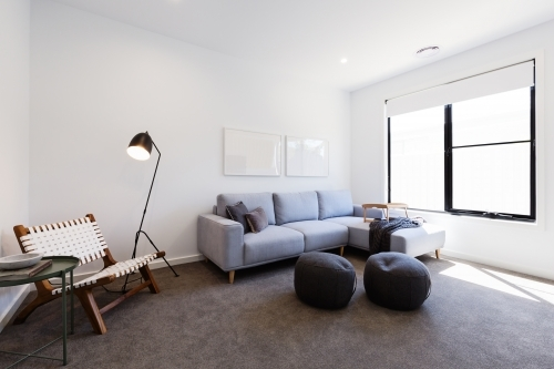 Cosy tv sitting or second living room in a new home