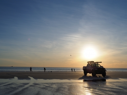 4WD on Cable Beach at Sunset