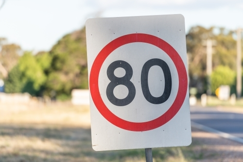 80 km speed zone