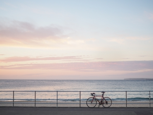 A bike at sunrise
