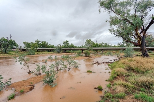 A flooded Todd River