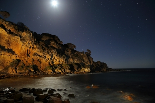 A light-painting of Shelley Cove, Western Australia.