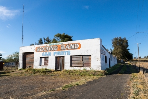 Abandoned Second Hand Car Parts Shop