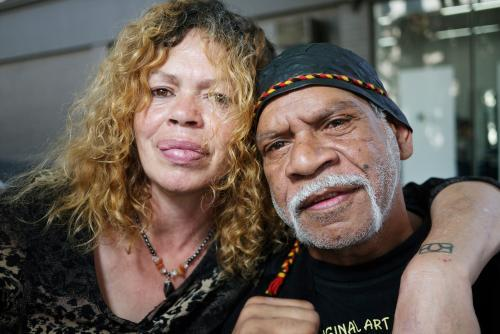 Aboriginal Man and Woman Close Up