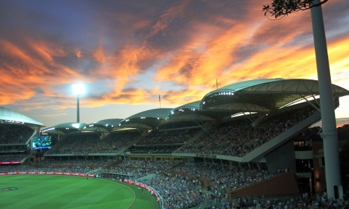 Adelaide oval at sunset