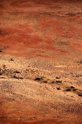 aerial view of outback landscape