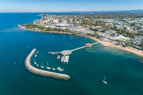 Aerial view of Redcliffe and Redcliffe Pier.
