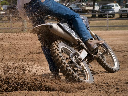Agricultural motor bikes competing at the Walcha Show