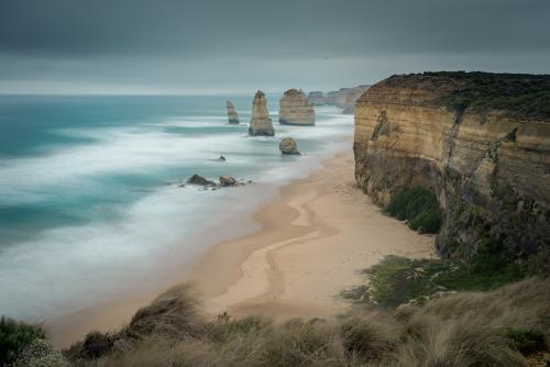 12 Apostles in cold stormy winter weather