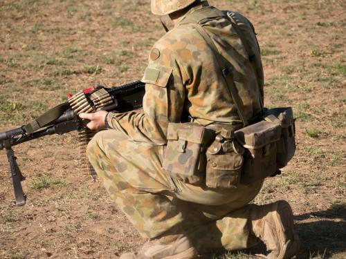 Australian Army Reserve Exercise - Soldier with Gun and Bullets