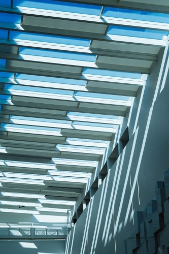 Architectural skylight in modern of shopping mall