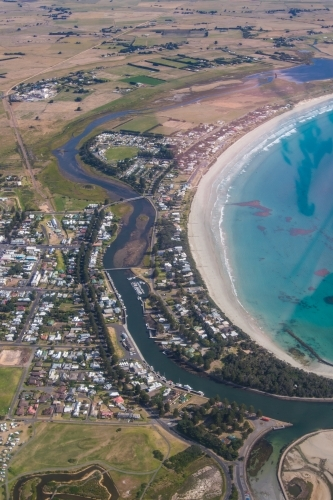 Aerial view of Port Fairy, Victoria