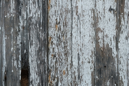 Old timber fence with peeling paint