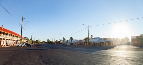 Panorama view of Trundle one of the widest main streets in the country