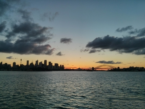 Beautiful Sydney harbour sunset view