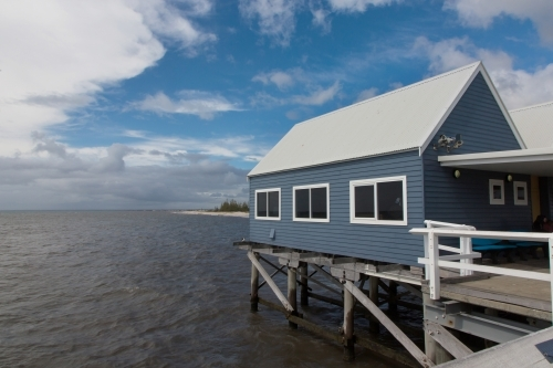Blue building on the Busselton jetty
