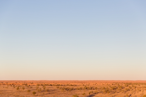 Blue sky and red dirt in outback australia
