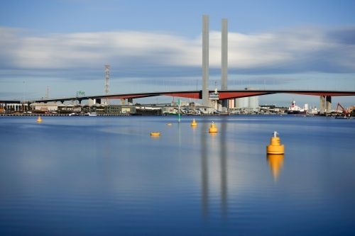 Bolte Bridge over the Yarra from Victoria Harbour