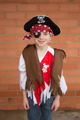 Boy dressed as a pirate