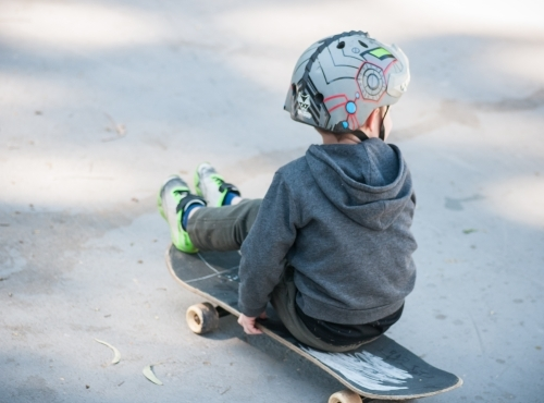 Boy on a skateboard