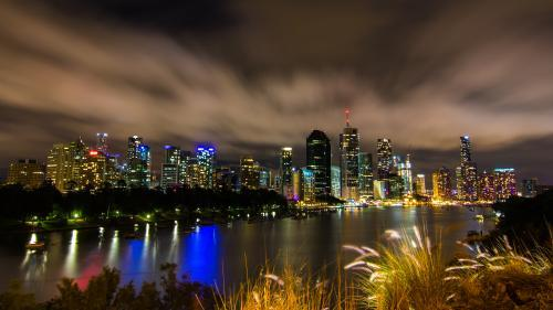 Brisbane City Skyline By Night