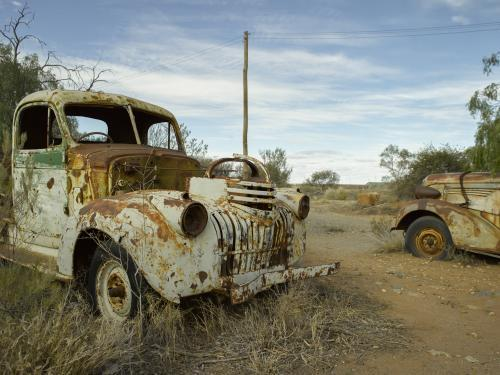 Rusty old cars in the outback