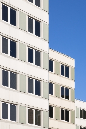 Building Facade Detail with Blue Sky