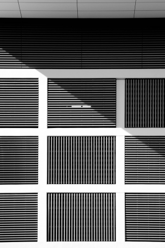 Building Facade with Grid Structure
