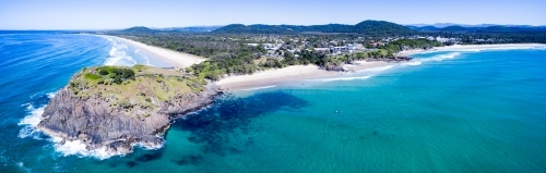 Aerial view of Norries Headland and Cabarita Beach.