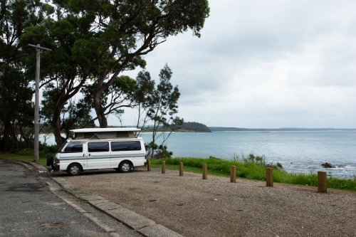 Camper van at Narrawallee, south Coast, new south wales