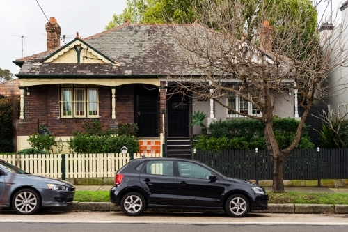 car parked in front of house in Sydney